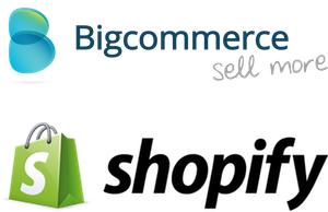 BigCommerce Logo and Shopify Logo